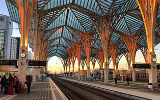 Station in Lisbon in the evening small