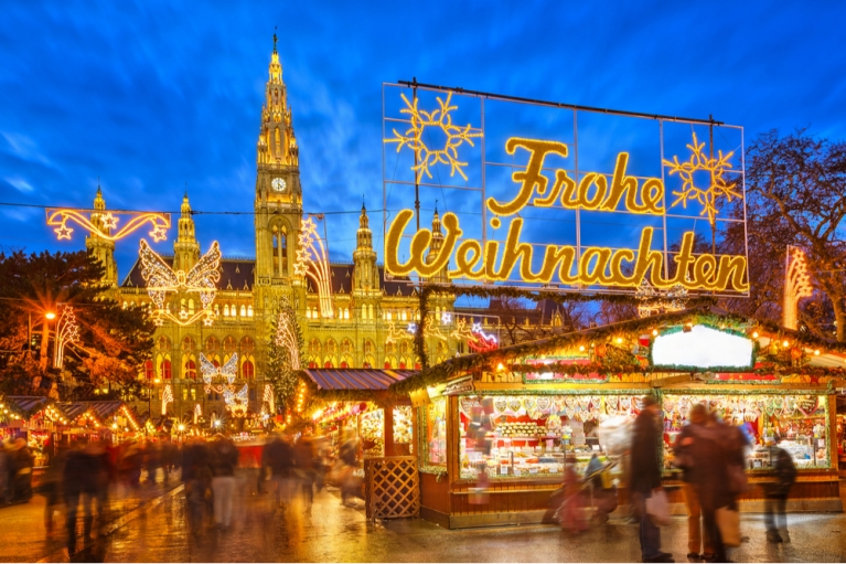 Vienna Christmas market by the Rathaus