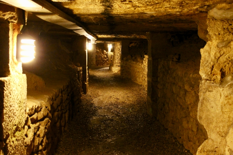 A network of underground tunnels serves as a final resting place for many Parisians in the 1700s