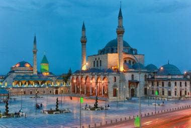 Mevlana museum and Mevlana square