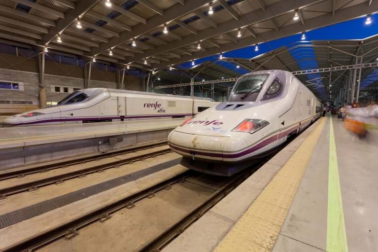 AVE high-speed train at Málaga train station