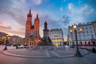 The market square in Krakow