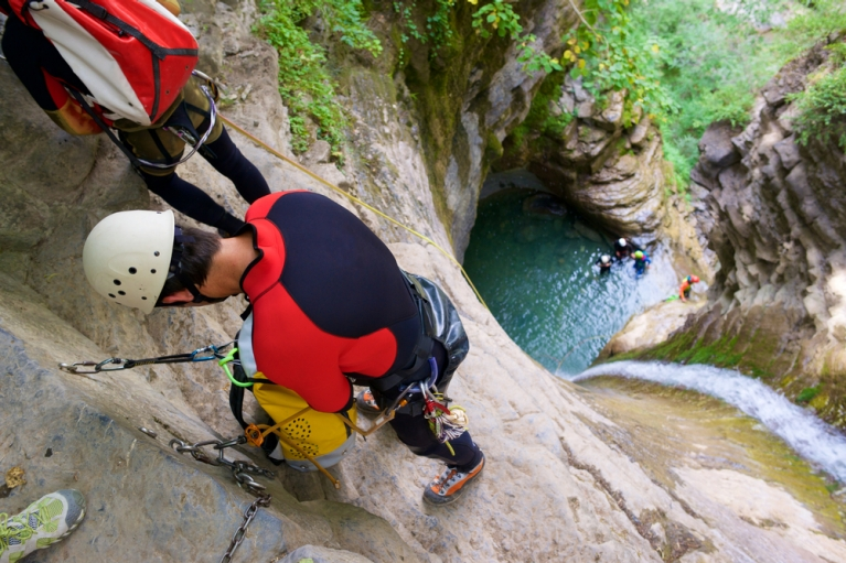 Canyoning in Aragon Spain