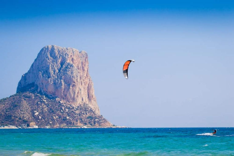 Kite surfer Calpe spain
