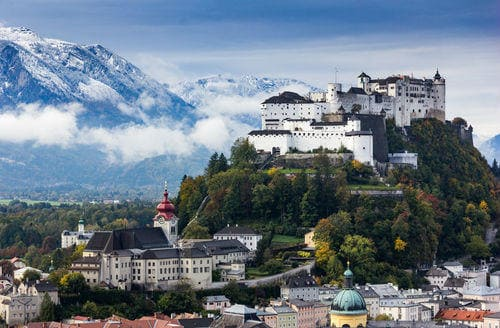Beautiful view of Hohensalzburg Castle