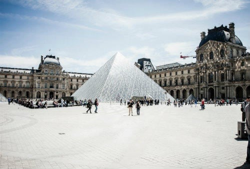 The Pyramid and the Louvre museum