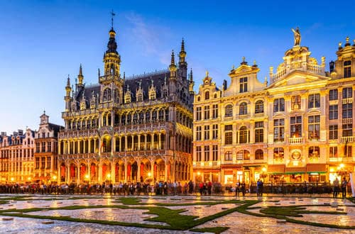 Night scene of the Grand Place