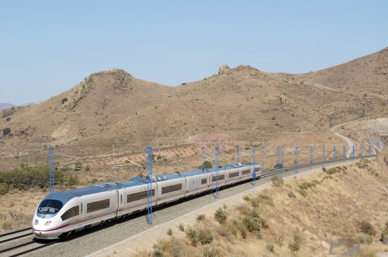 AVE high-speed train in Saragossa, Spain