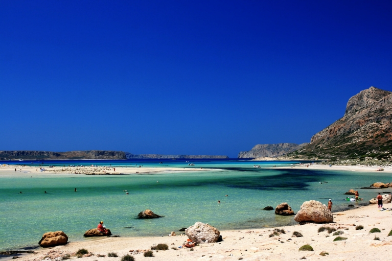 Beautiful beach on Crete