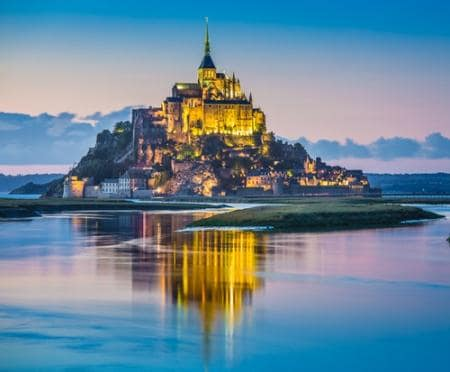 Beautiful view of Mont Saint-Michel