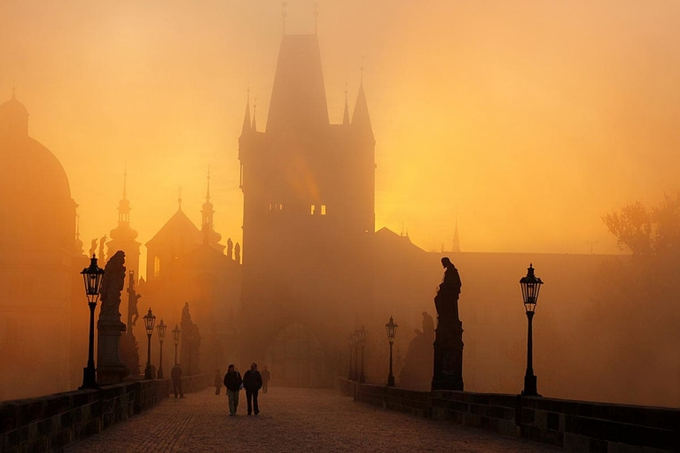 The Charles Bridge in the fog