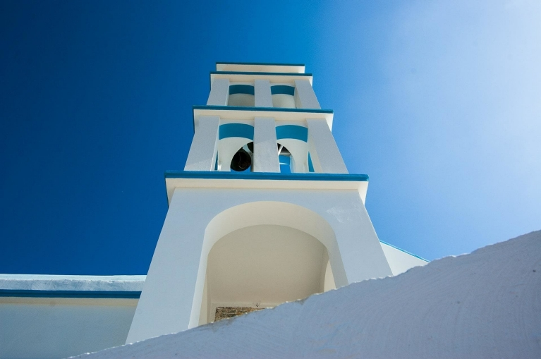 A white church on Crete