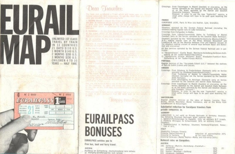 An older, smaller version of the Eurail Pass!