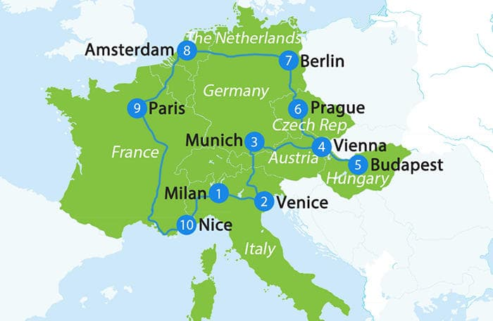 3 weeks in Europe by Rail   Train Holidays in Europe ...
