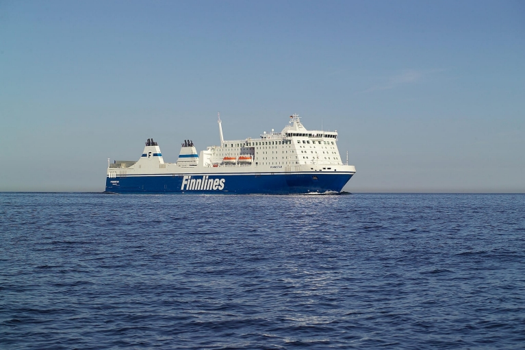 Finnlines ferry on sea