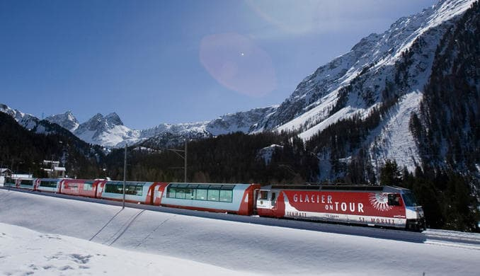 Glacier Express in winter
