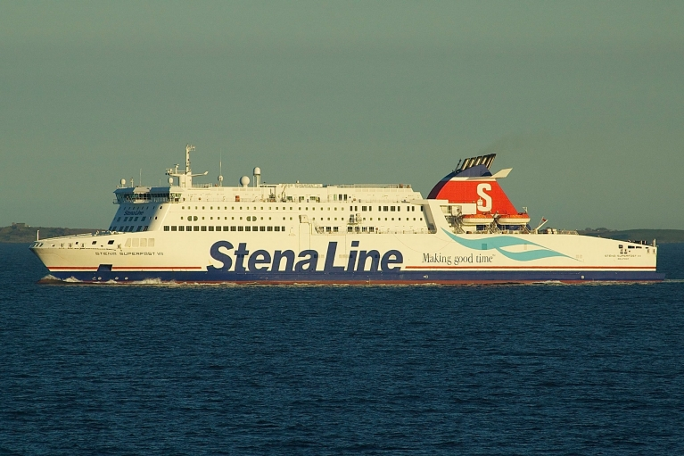 Stena Line ferry at twilight