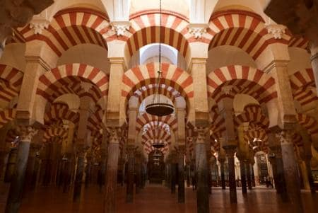 Inside the mosque of Córdoba