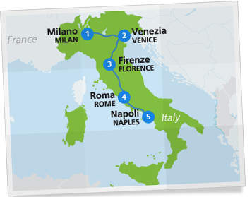 italy itinerary the best of italy by rail eurail com