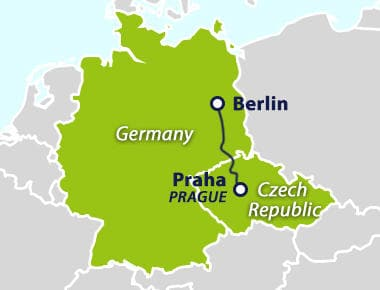 how to get from berlin to prague by train. Black Bedroom Furniture Sets. Home Design Ideas