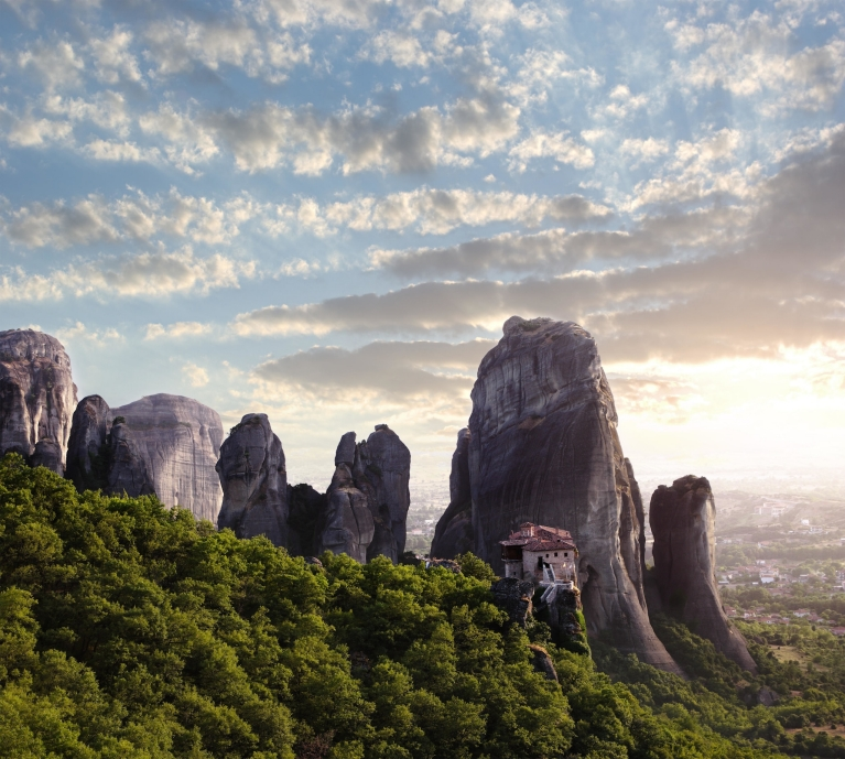 Mountaintop monasteries of Meteora