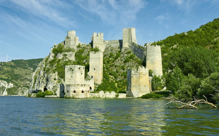 Old Golubac fortess on Danube