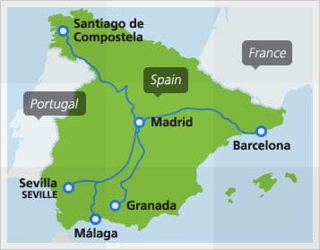 Map Of The Spain.Spain By Train Spain Train Routes And Map Of Spain Eurail Com
