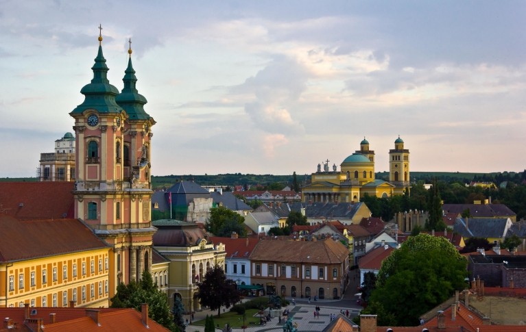 The picturesque medieval town of Eger, Hungary