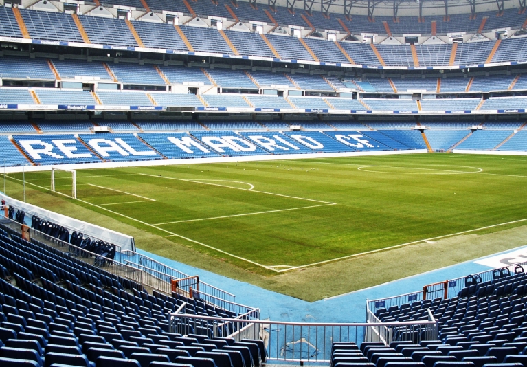 Santiago Bernabéu Stadium, home to Real Madrid football club
