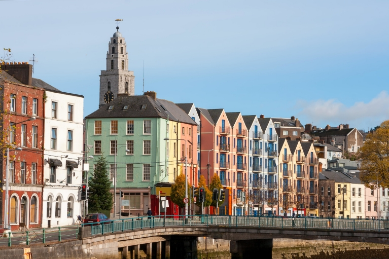 The Shandon Bell Tower rising above Cork city