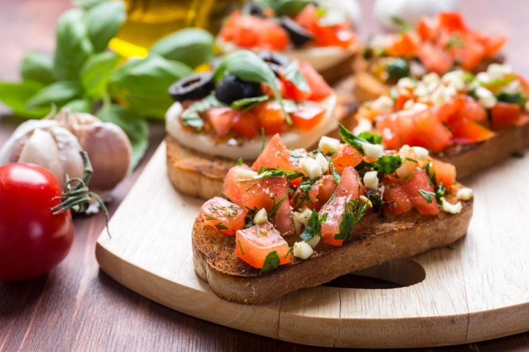 Bruschetta in Rome, Italy