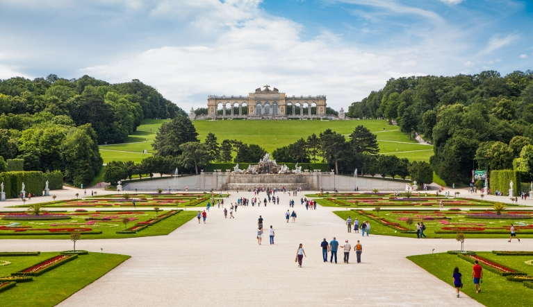 The Schonbrunn Palace gardens