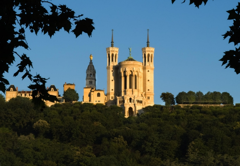 The basilica of Notre Dame de Fourviere, Lyon