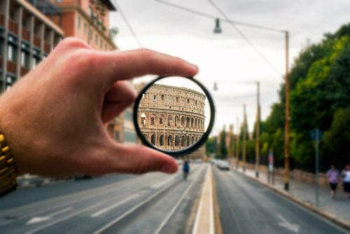 Everything about Eurail | The colosseum seen through a different perspective in Rome, Italy