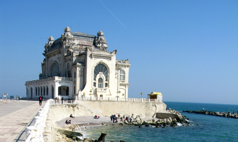 The old casino in Constanta on the Black Sea coast