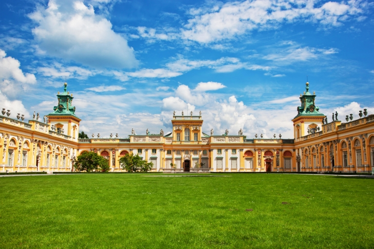 Royal Wilanow Palace in Warsaw