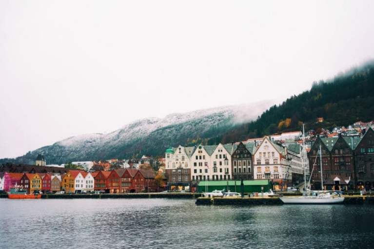Town view of Bergen, Norway