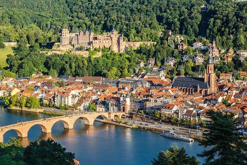 1 week in Germany | View over Heidelberg in summer