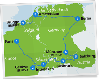 western europe itinerary eurail com