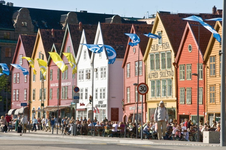 Wooden houses in Bergen