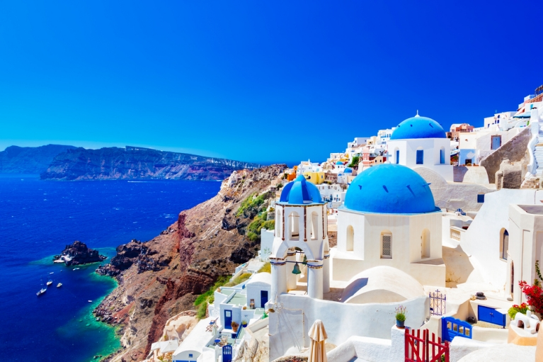 greece santorini blue monday