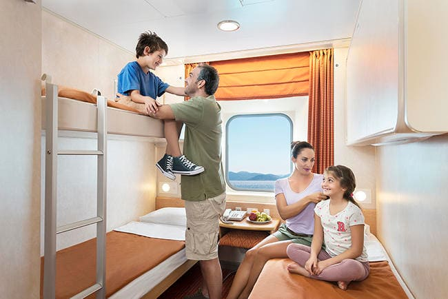 Enjoy ergonomically designed and spacious cabins aboard Superfast Ferries