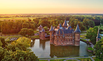 netherlands-utrecht-castle-de-haar-sunset