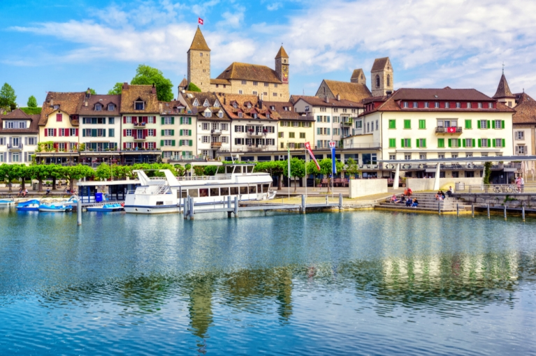 Rapperswil-Jona by Lake Zurich