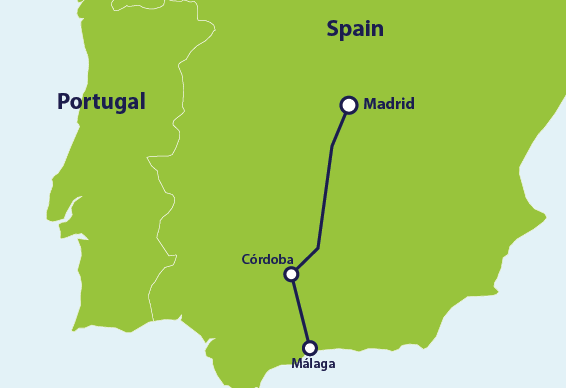 How to Get From Madrid to Málaga by Train | Eurail.com Malaga Map Of Attractions on segovia attractions, lima attractions, castilla y leon attractions, shanghai attractions, cartagena attractions, bari attractions, toulon attractions, alicante attractions, zaragoza attractions, valencia attractions, stavanger attractions, rio grande attractions, port canaveral attractions, catania attractions, southern spain attractions, costa del sol attractions, palma de mallorca attractions, wenatchee attractions, miraflores attractions, toledo attractions,